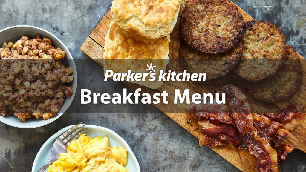Parker's Kitchen Breakfast Menu
